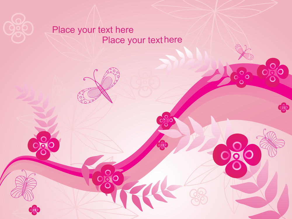 Vector Pink Nature Background