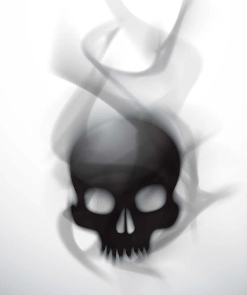 Vector Poisonous Smoky Skull