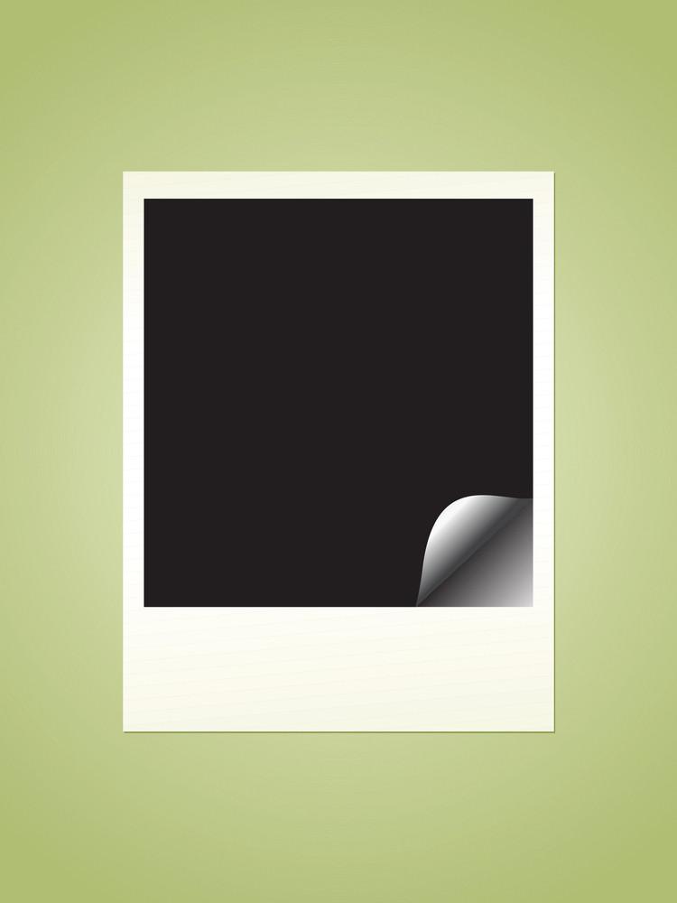 Vector Polaroid Film Blank