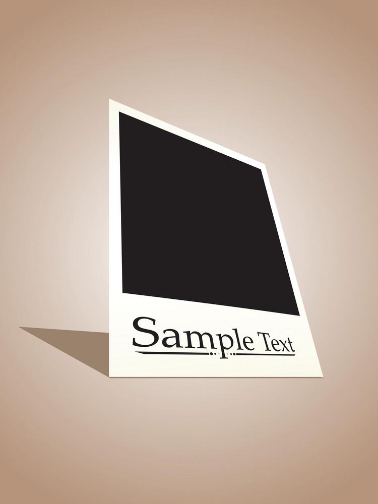 Vector Polaroid Film Sample Text