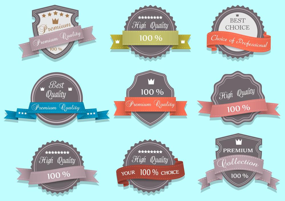 Vector Premium Quality Labels