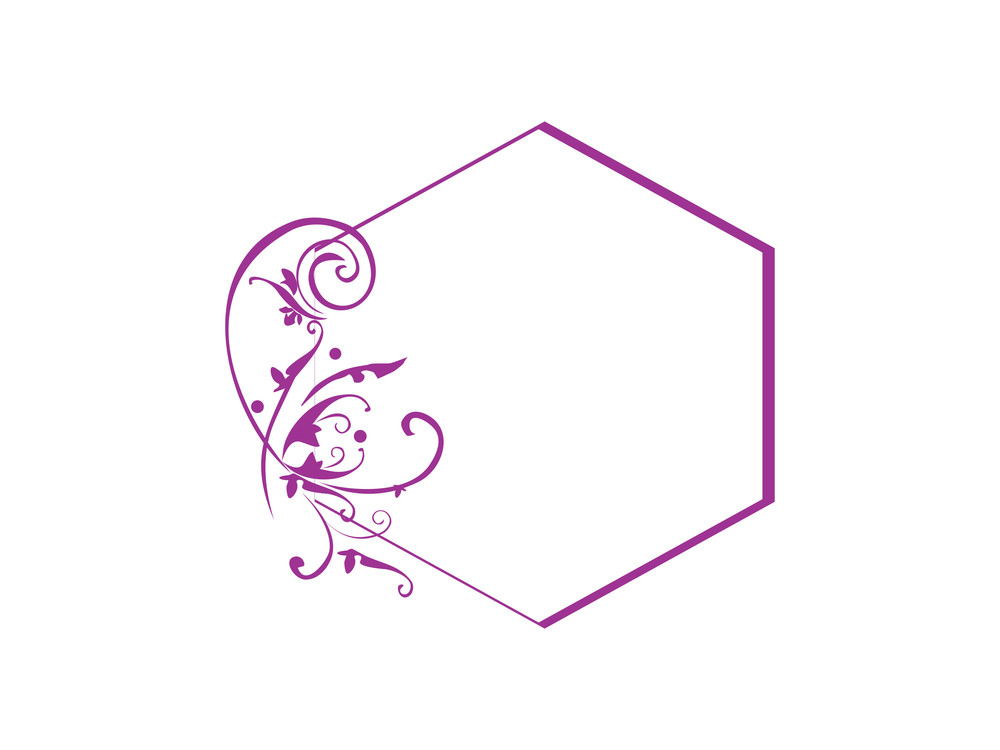Vector Purple Frame With Elements