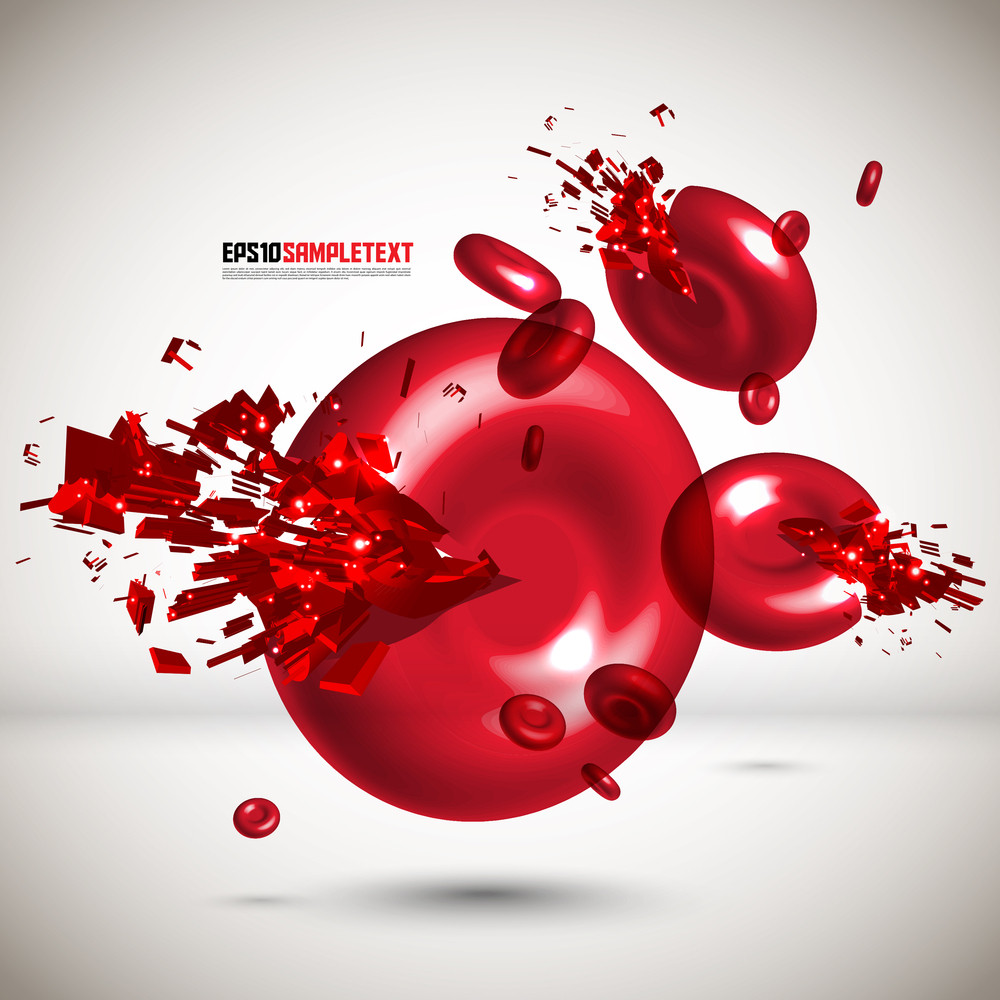 Vector Red Cells Crushing