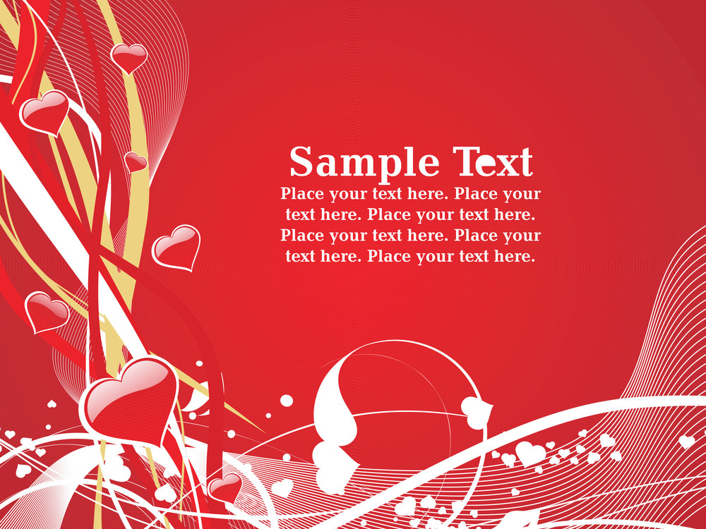 Vector Red Illustration Card