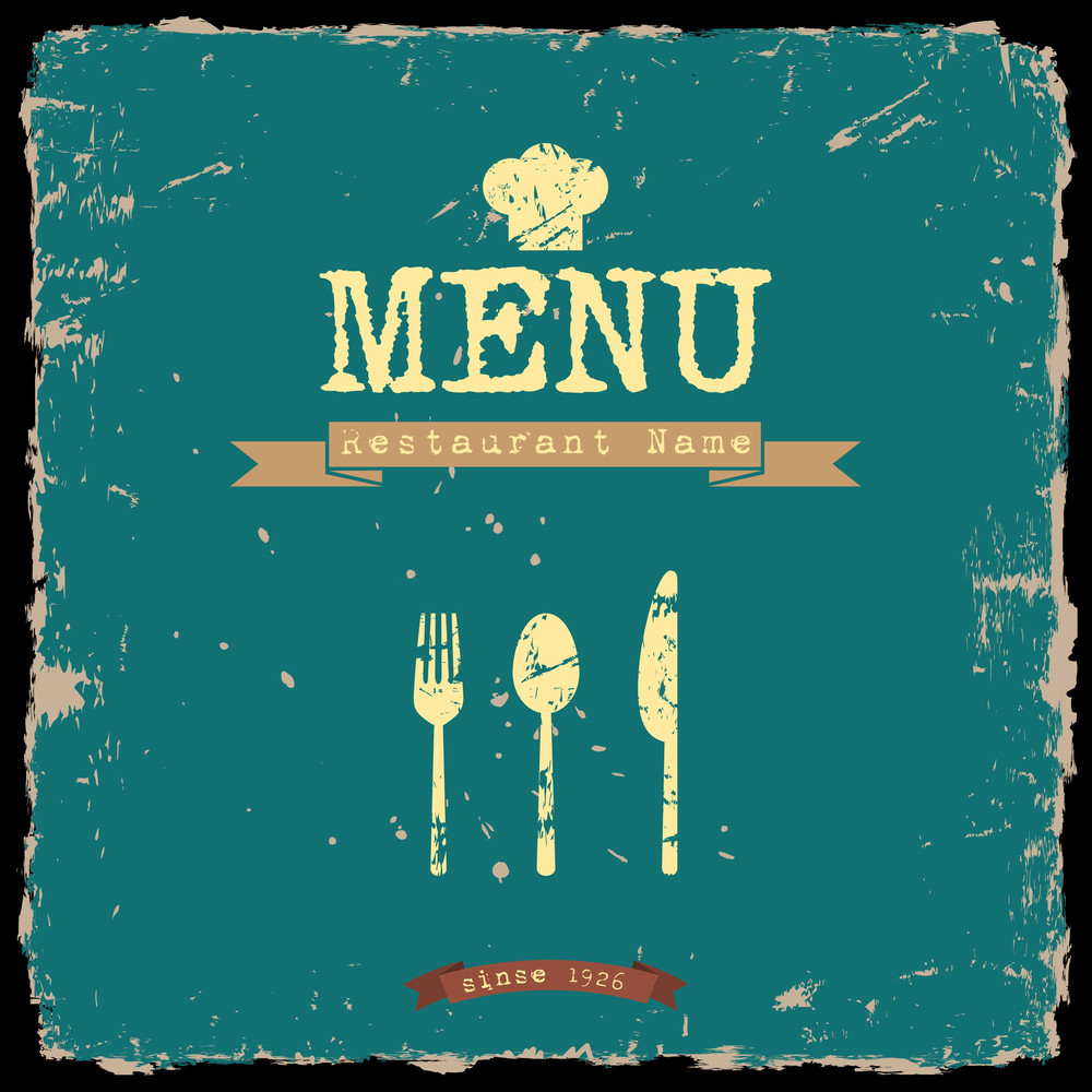 Vector Restaurant Menu. Retro Style Design