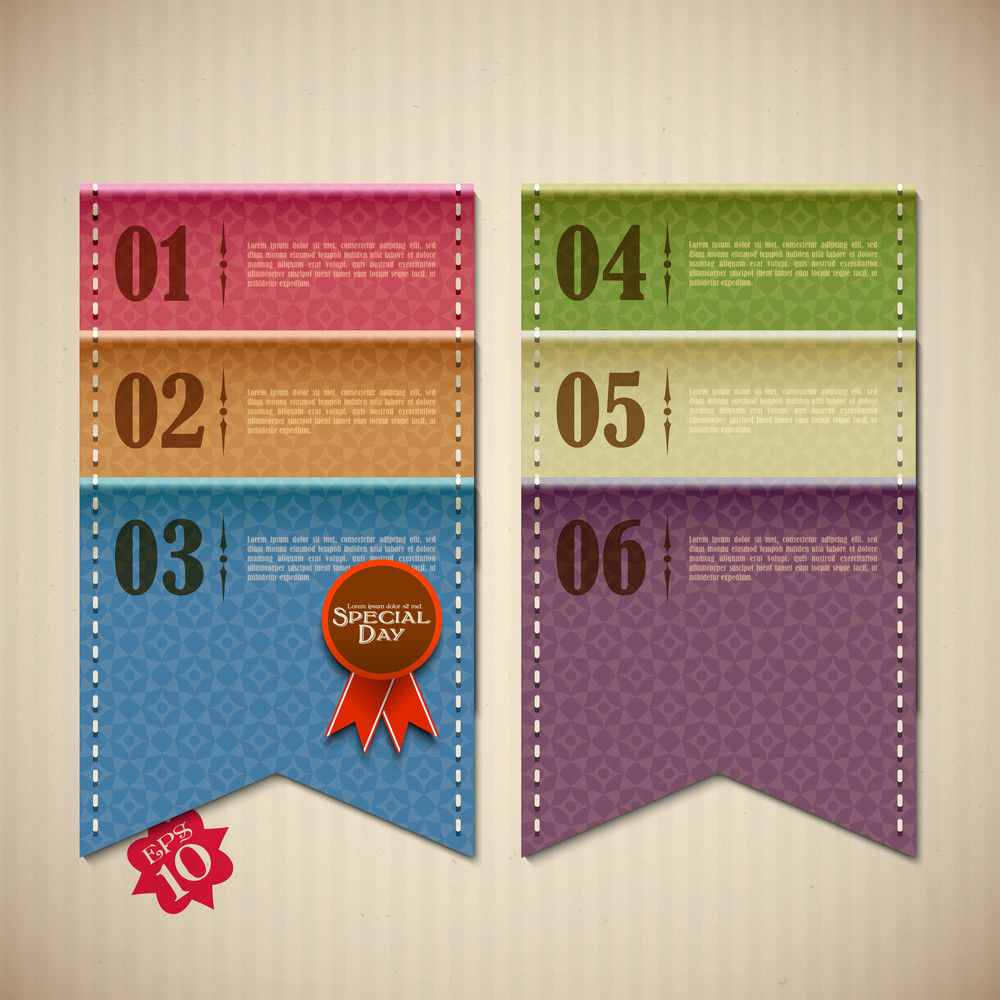 Vector Retro Banner For Scrapbook Design