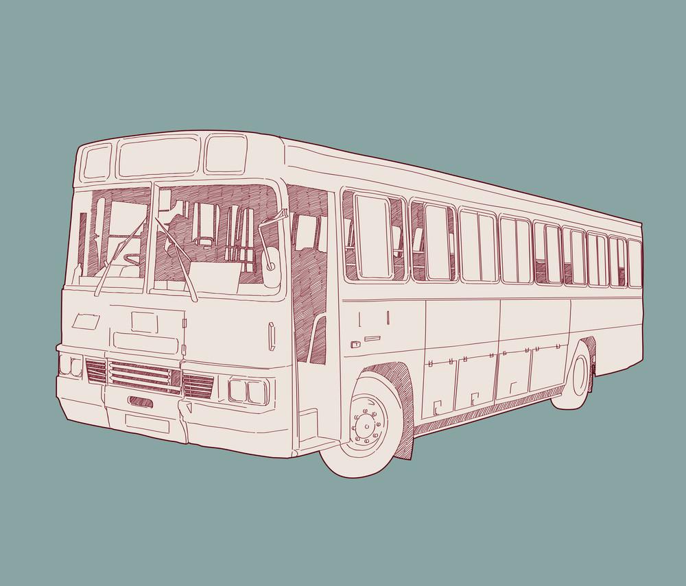 Vector Retro Bus