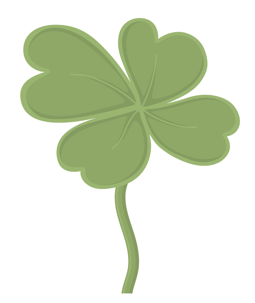 Vector Retro Clover Leaf