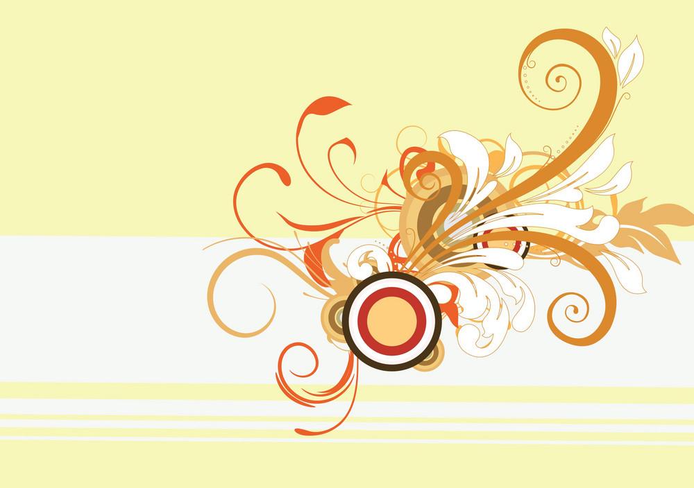 Vector Retro Floral Background