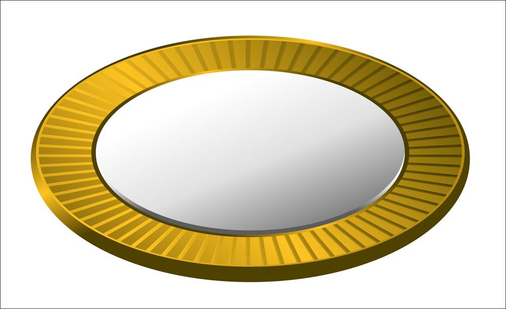 Vector Retro Golden Coin