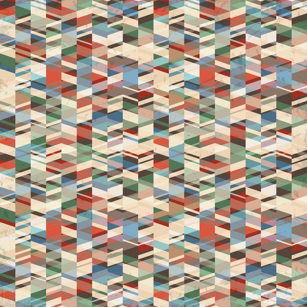 Vector Retro Grunge Geometric Background