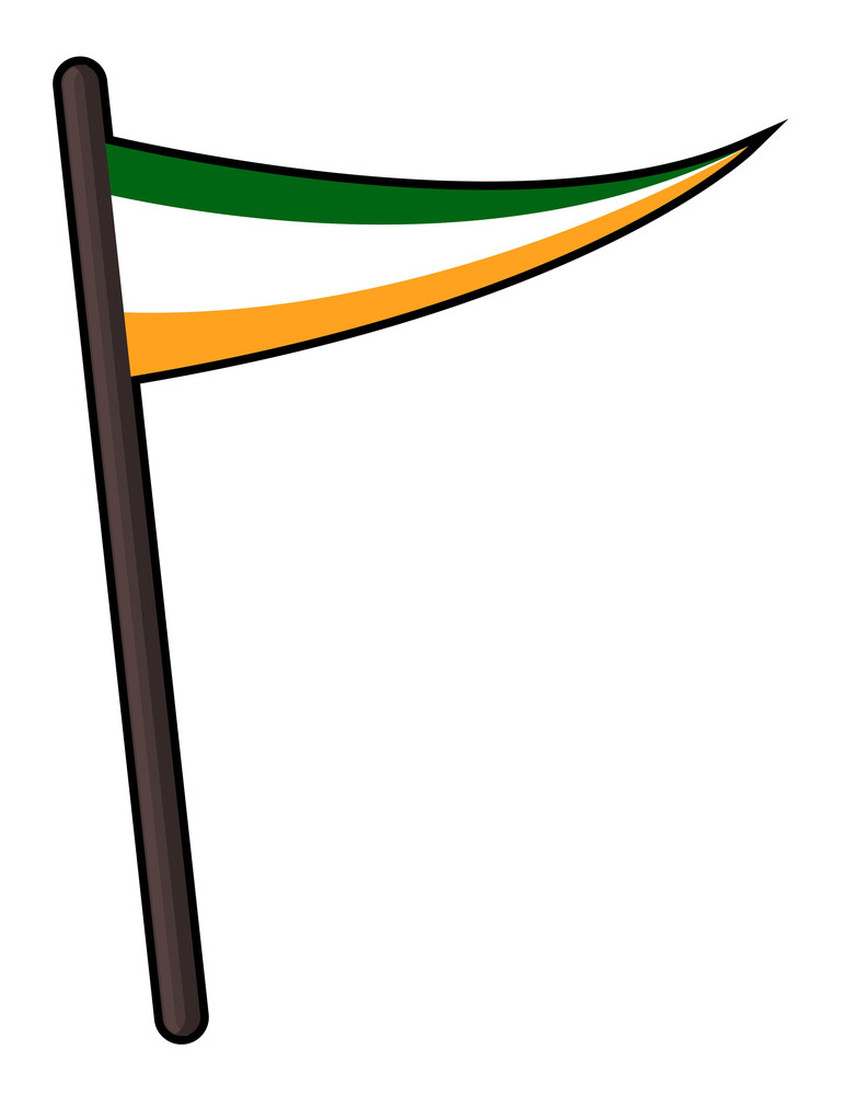 Vector Retro Irish Flag