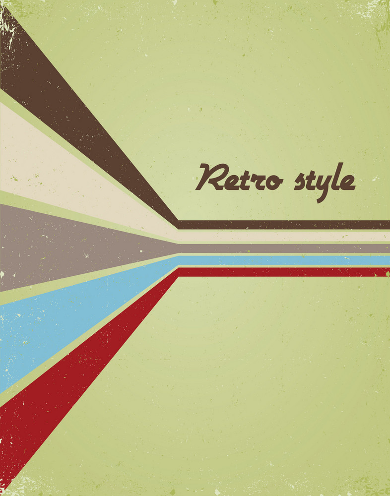 Vector Retro Poster With Wave