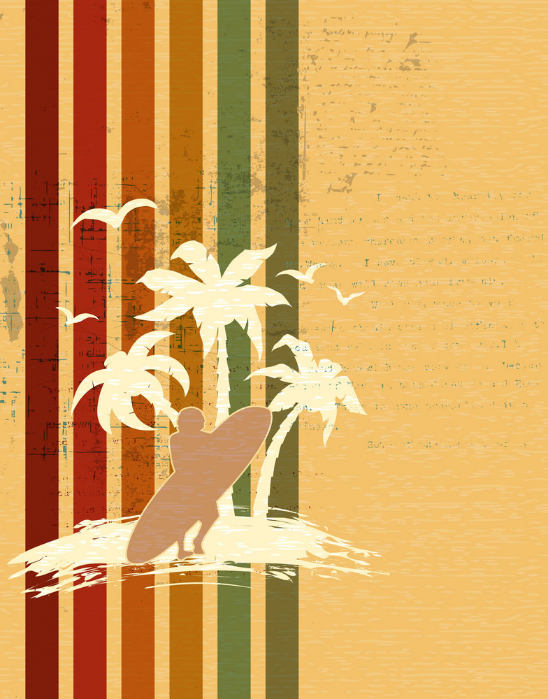 Vector Retro Summer Background