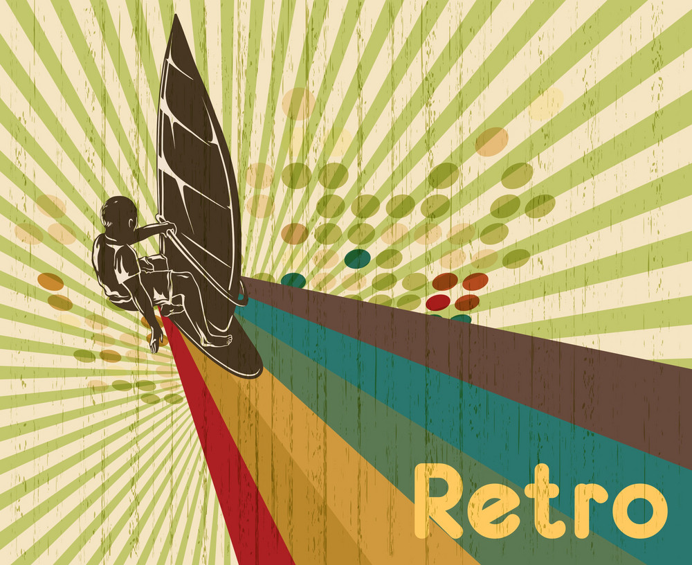 Vector Retro Summer Background