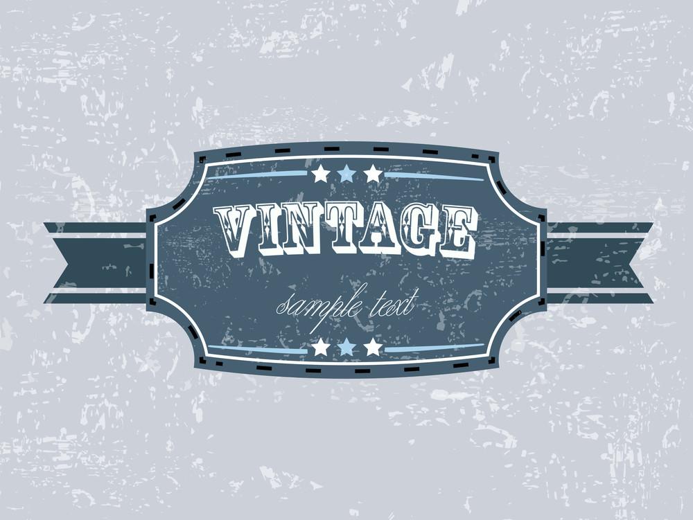 Vector Retro Vintage Grunge Label.