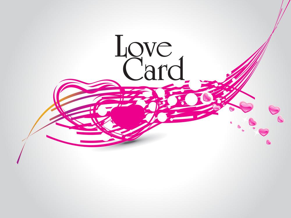 Vector Romantic Love Background