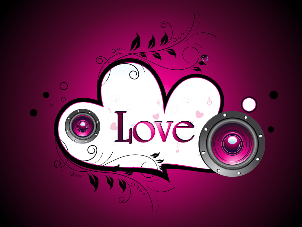 Vector Romantic Musical Background