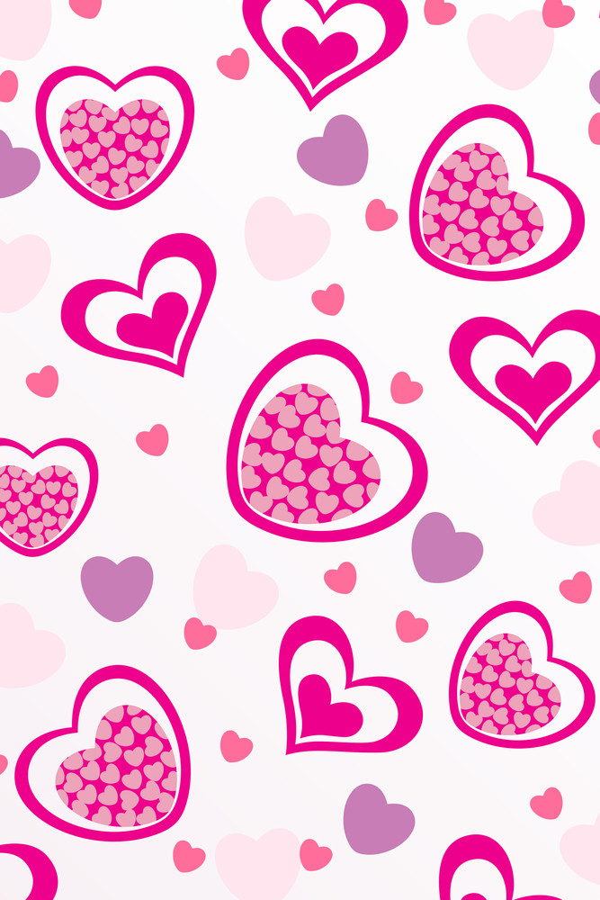 Vector Romantic Pattern Background