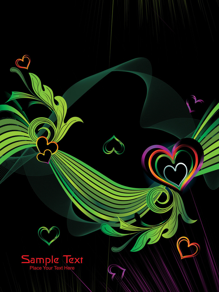 Vector Romantic Pattern Wallpaper