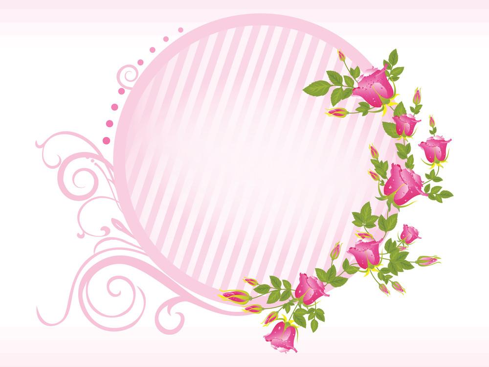 Vector Rose Flower Frame