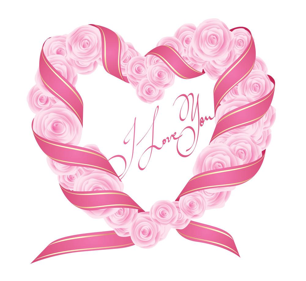 Vector Rose Valentine's Heart