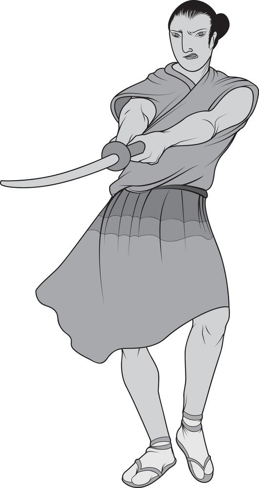 Vector Samurai Warrior