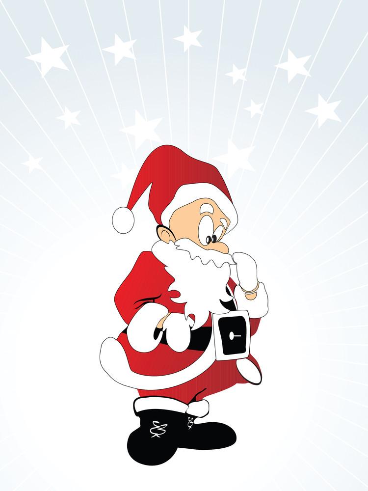 Vector Santa Toy Illustration