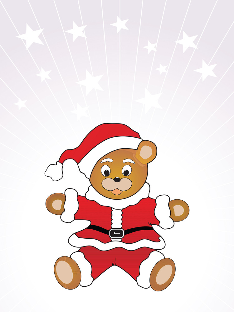 Vector Santa Toy Wallpaper