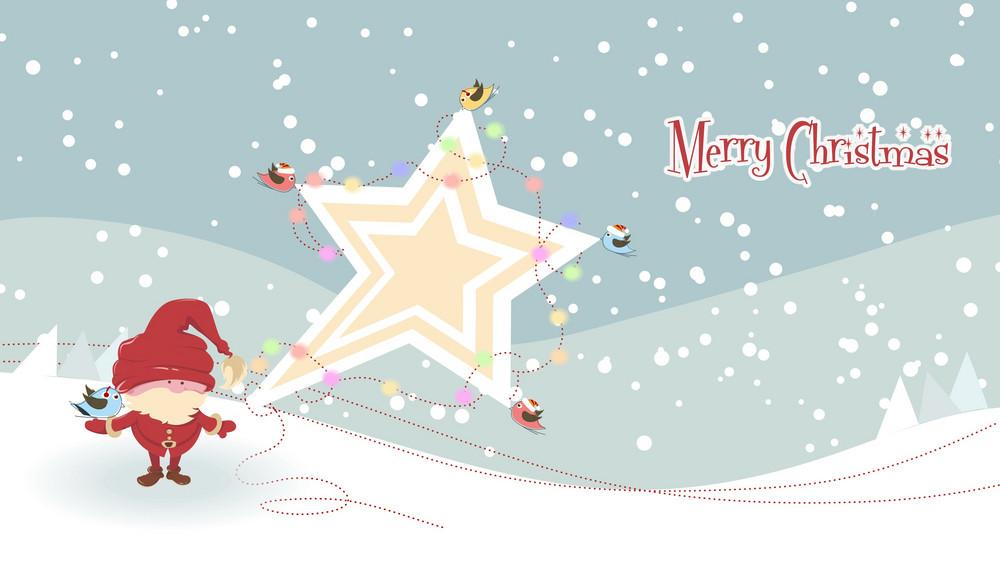 Vector Santa With Star