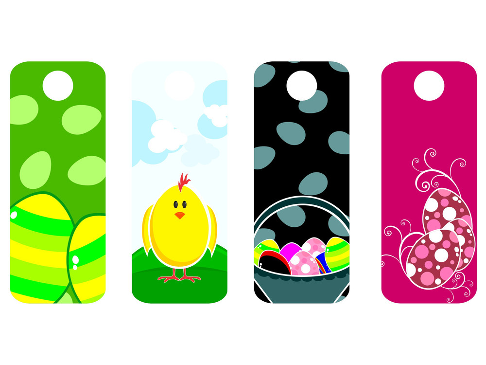 Vector Sat Of Easter Sale Tag