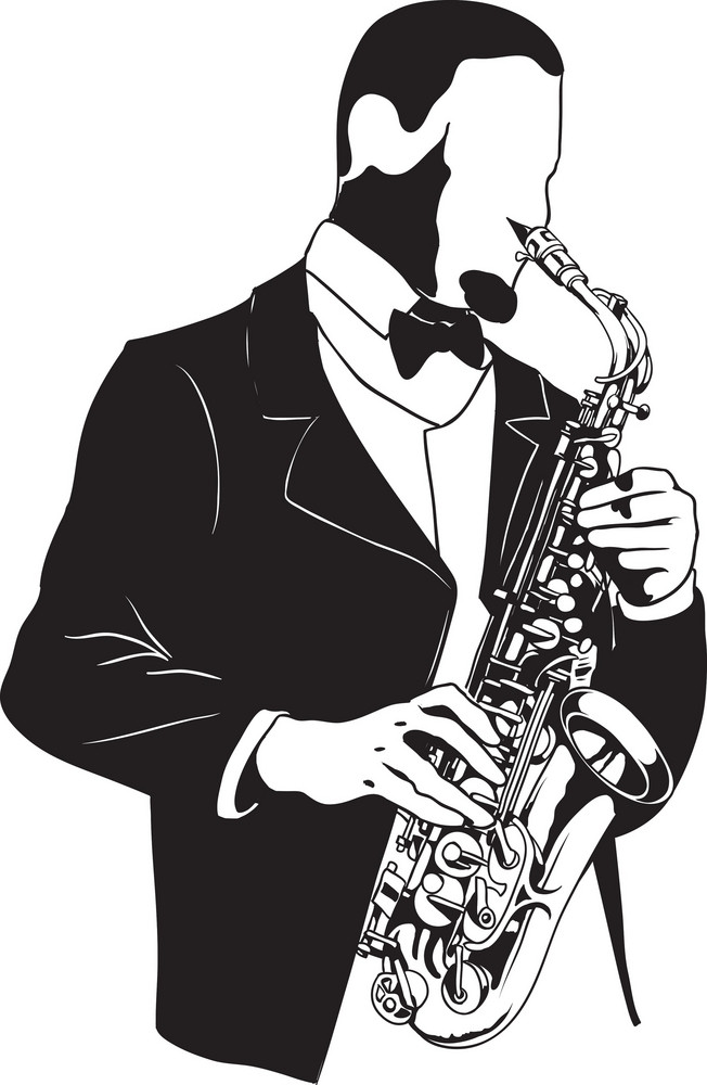 Vector Sax Player
