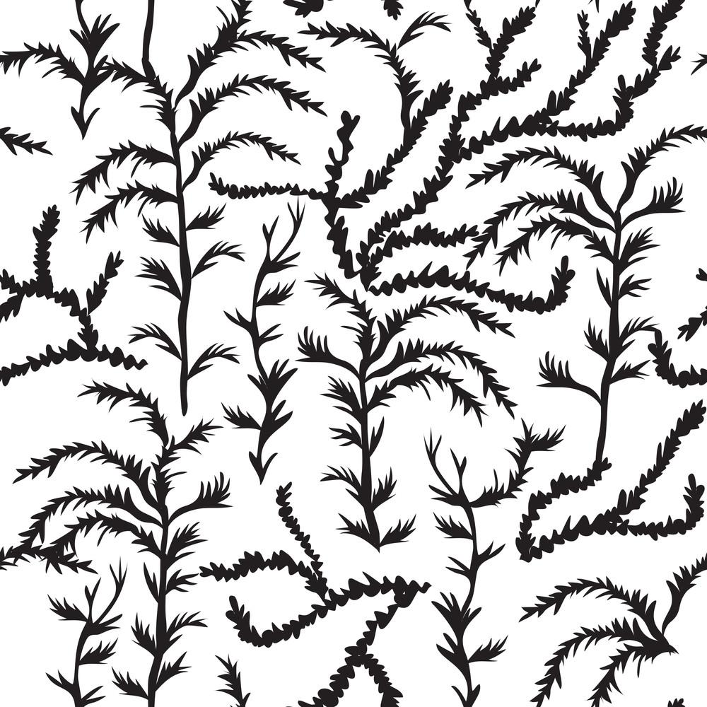 Vector Sea Weed Pattern