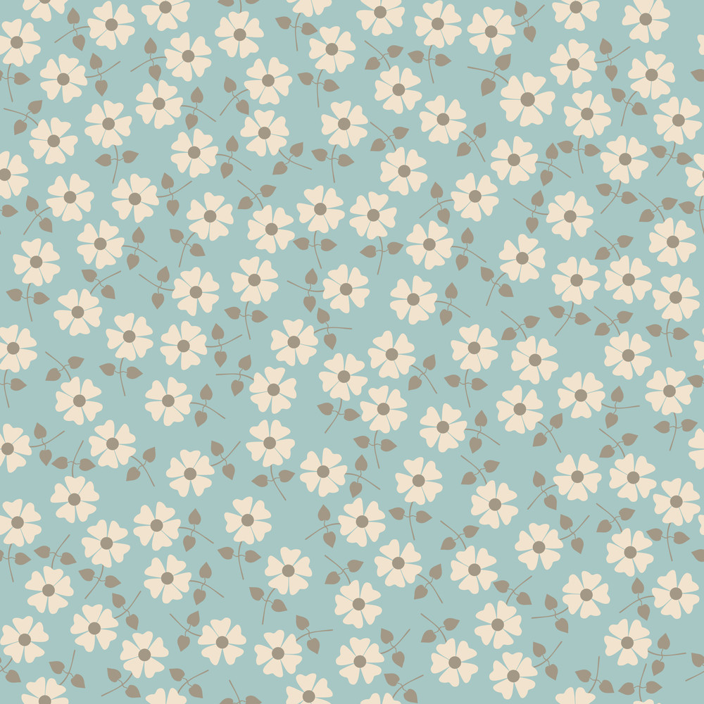 Vector Seamless Floral Pattern. Flowers Texture. Daisy.