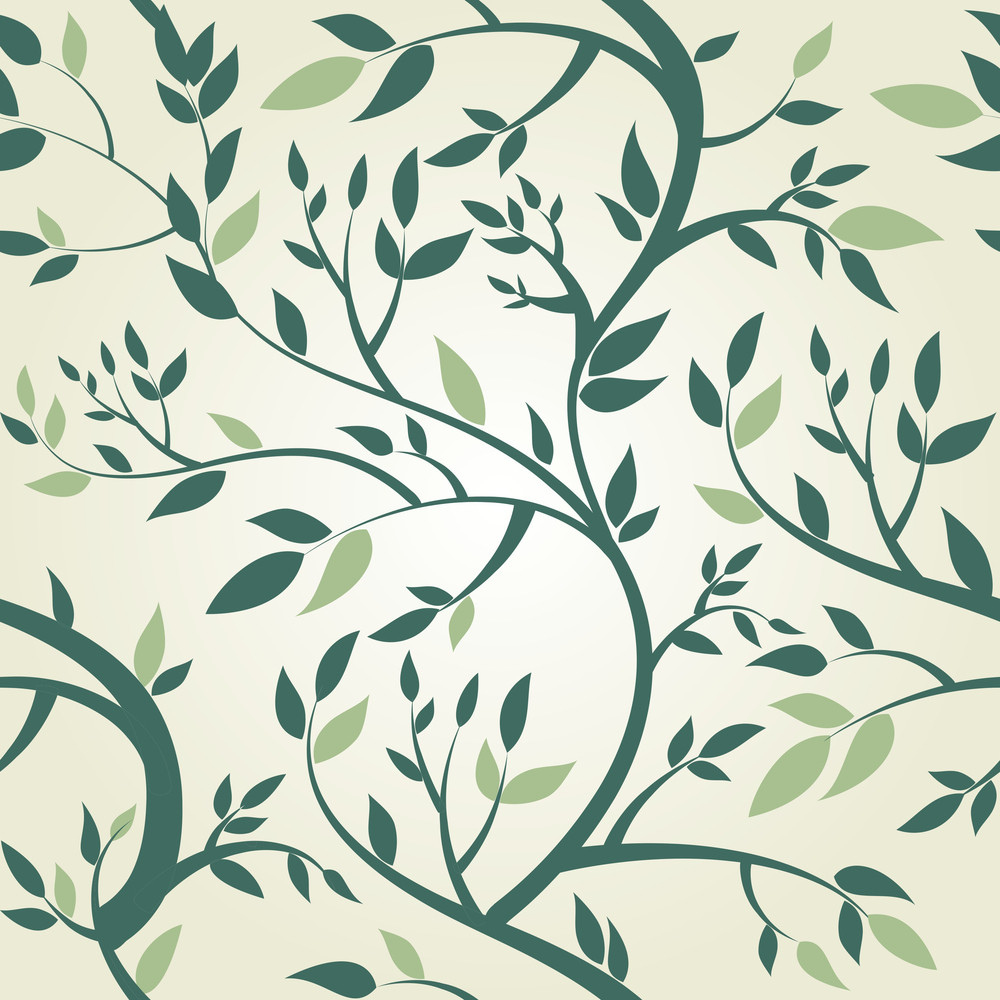 Vector Seamless Pattern With Branches-