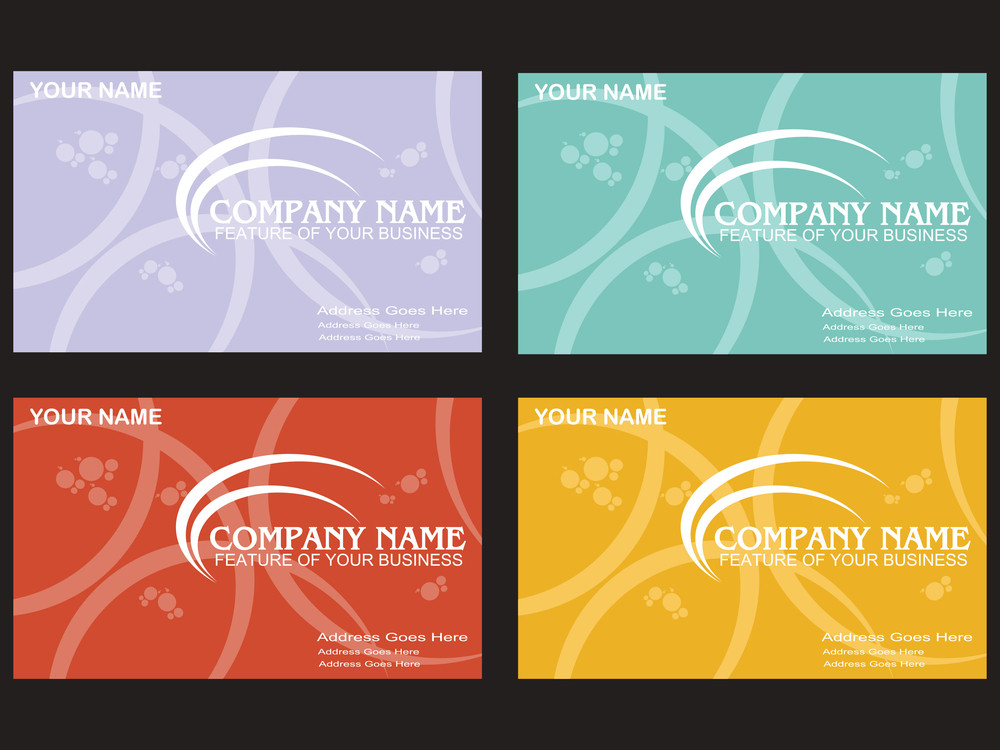 Vector Set Of Business Card