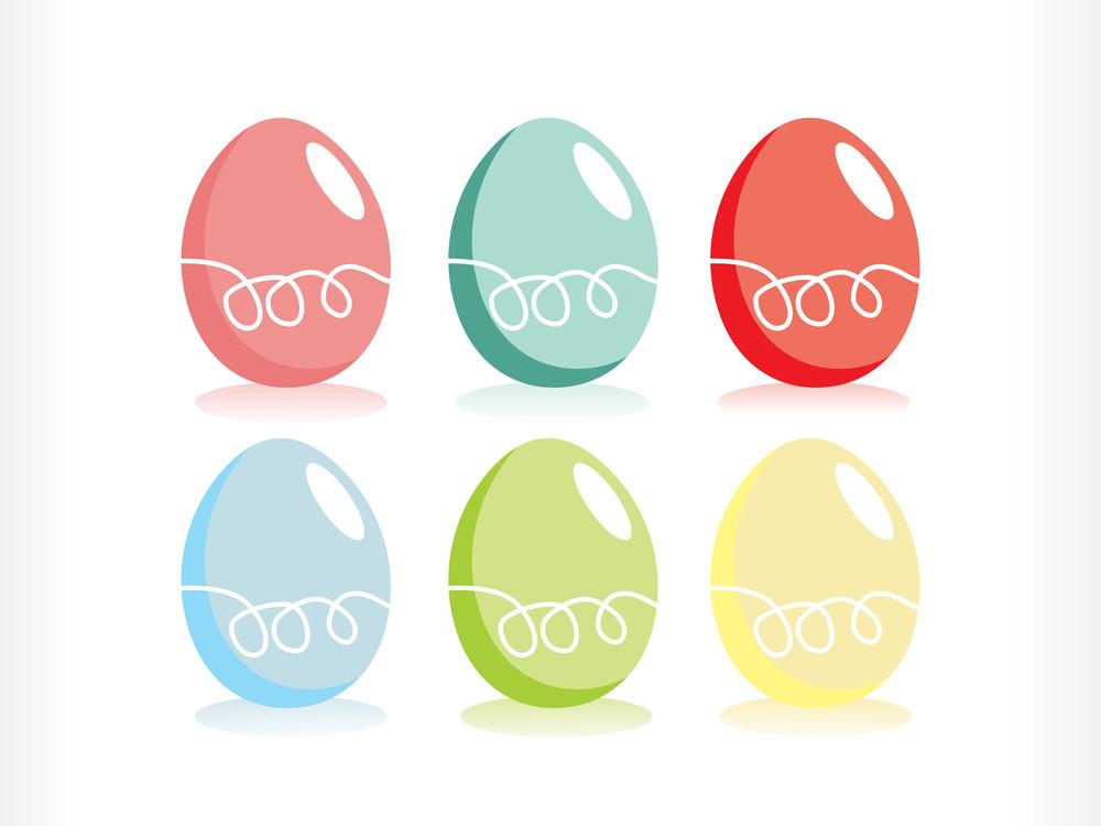 Vector Set Of  Easter Egg