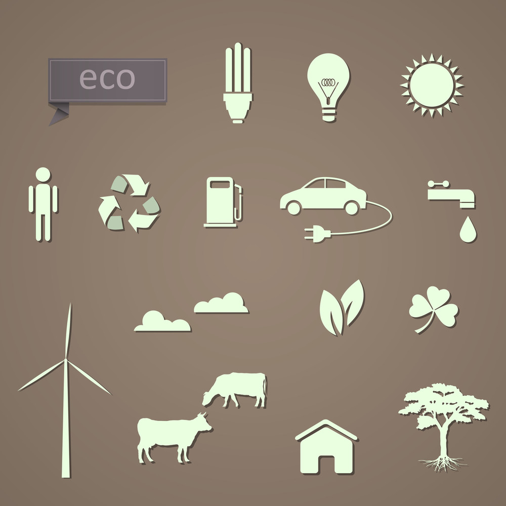 Vector Set Of Eco-icons
