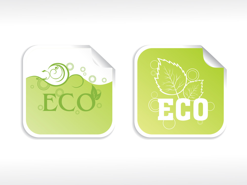 Vector Set Of Eco Sticker