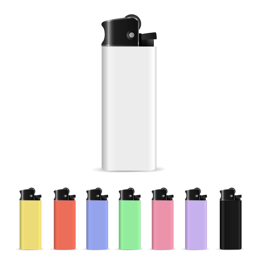 Vector Set Of Lighters