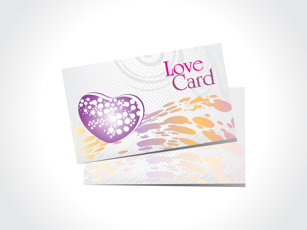 Vector Set Of Love Card