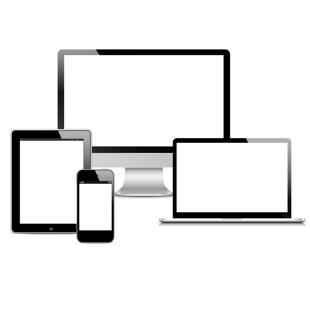 Vector Set Of Modern Digital Devices