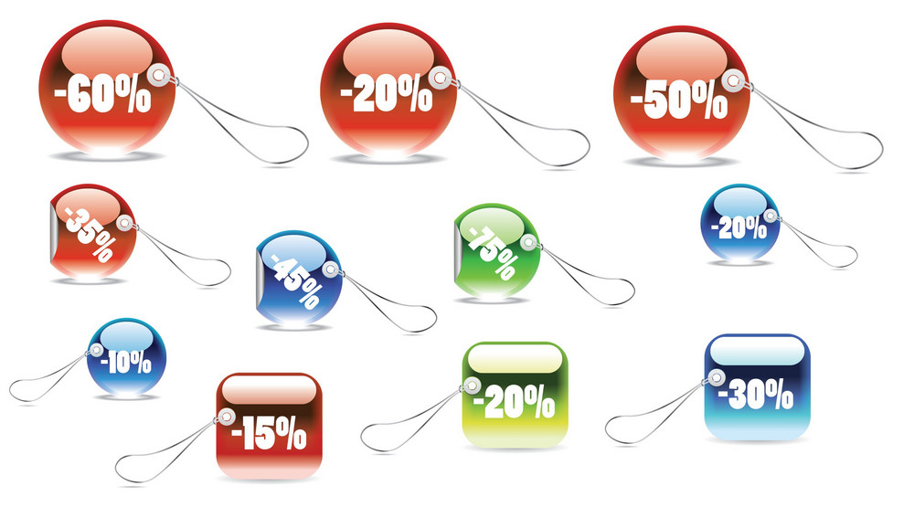 Vector Set Of Shopping Tags And Stickers