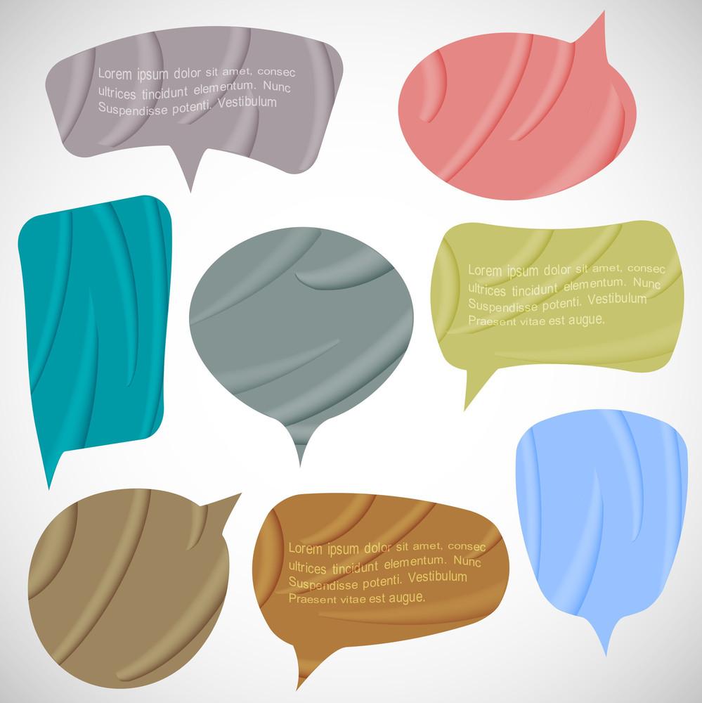 Vector Set Of Silk Speech Bubbles