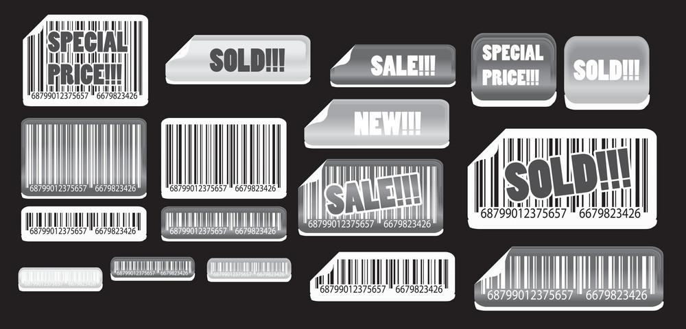 Vector Set Of Stickers