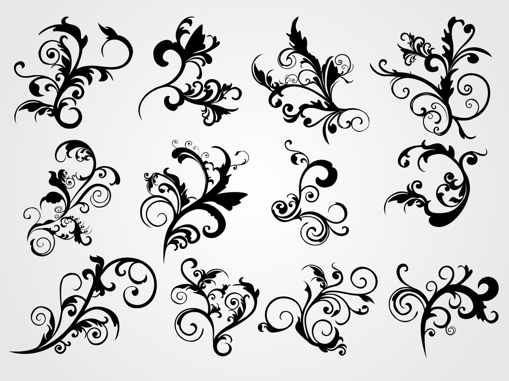 Vector Set Of Tattoos
