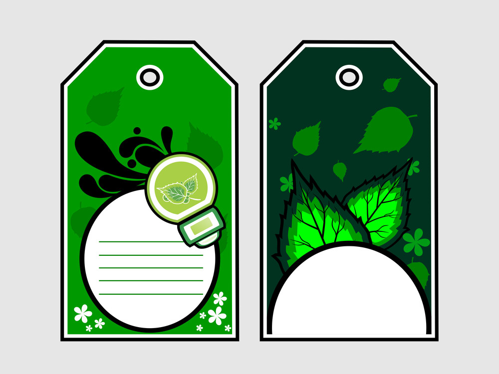 Vector Set Of Two Ecology Tags