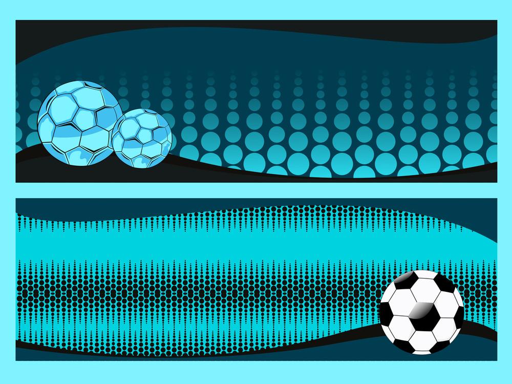 Vector Set Of Two Soccer Sport Header