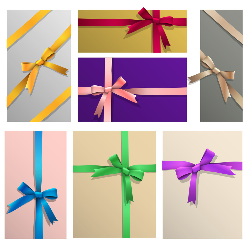 Vector Set Of Various Gifts Wrapping