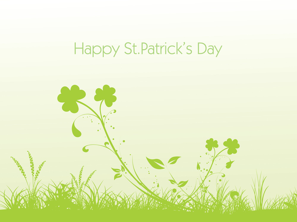 Vector Shamrock Background